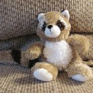 2009 Princess Soft Toys #1650 Tan Brown White Striped Raccoon Lovey Plush 8""