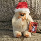 WT Vintage 1979 Russ Berrie Luv Pets Gonga Santa Hat Cream Thumb Sucking Gorilla Lovey Plush 8""