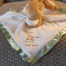 2013 Kids Preferred Guess How Much I Love You Brown Green Cream Lovey Security Blanket  13x14""