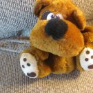 Vintage MTY International Co Carmel Brown Red Tongue Heart Paws Floppy Arms Puppy Dog Lovey Plush 9""