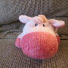 WMT 2008 Ty Pluffies Mooer Pink Tylux Plush Cow Lovey Plush 12""