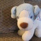 "WT Aurora Baby #20697 Cherish Boy Light Blue White Squeaking Puppy Dog Lovey Plush 10"""