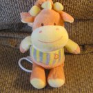 Baby Hugfun #072011NBB Orange Yellow Gray Giraffe Musical Crib Pull Toy