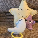 2000 Dolly Inc Smiling Stars Sleeping Moon Nightcap Brahms Lullaby Crib Pull Toy Plush