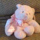 Gund Baby #58739 Sweetkins Pink Musical Teddy Bear Crib Pull Toy Plush Lovey