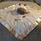 Circo Tan Brown Giraffe Cow Busy Bee Bumble Bee Security Blanket Lovey Plush14x14""