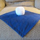 Koala Baby Navy Blue White Red Stitched Baseball Security Blanket Lovey 12x12""