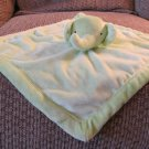 Tiddliwinks Green Fleece Padded Edge Elephant Lovey Security Blanket 13x13
