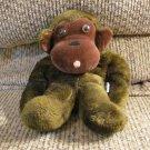"HTF Vintage Dakin 1973 Ground Nutshells Bean Bag Gorilla Monkey Lovey Plush 10"""