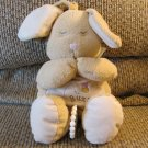 Kids II Tan Buzz Bumble Bee Praying Musical Brahms Bunny Rabbit Crib Pull Toy 12""