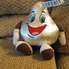 Hershey Store Silver Metallic Tennis Shoe Kisses Person Lovey Plush 9""