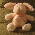 2014 Animal Adventure Pink White Cottontail Soft Bunny Rabbit Lovey Plush 12""