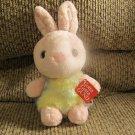 "WT Gund #4043996 Rosalita Tie Dye Pink Yellow Blue Purple Bunny Rabbit Lovey Plush 7"""