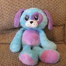Ganz Dreamerz Dog Blue Purple Sewn Facial Features Soft Lovey Plush 13""