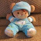 "2008 Fisher Price Blue My 1st Bear Rattle Lovey Plush 10"""