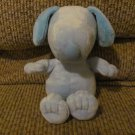 Galerie Peanuts Blue Snoopy Plush Blue Satin Ribbon Lovey 7""