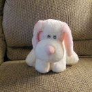 Aurora Baby Light Pink White Velour Nose Puppy Dog Plush Lovey 12""