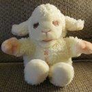 Vintage 1987 Shari Lewis Enterprises Inc White Wooly Pink Lamb Chop Hand Puppet Plush