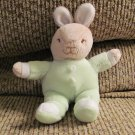 Vintage 1997 Royal Doulton Bunnykins Green Onesie Pajama White Cottontail Tan Bunny Rabbit Plush