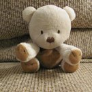 Carters #41380 Brown Tan Sitting Sewn Features Teddy Bear Lovey Plush 6""