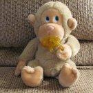 "Vintage Russ Berrie #472 Chee Chee Tan Pacifier Plastic Blue Eyes Sitting Monkey Lovey Plush 8"""