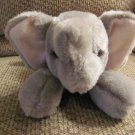 WT Aurora Flopsies #06301 Ellie Elephant GrayPink Fleece Ears Lovey Plush 11""