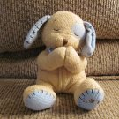 Kids II Levi Praying Tan Blue Stitched Puppy Dog Lovey Plush 6""