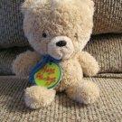 """Hallmark Cards Inc. Hugs Always Blue Cord Necklace Tan Teddy Bear Plush 9"""""""