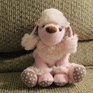 2013 Animal Adventure Sm Med Princess Pink Furry Polka Dot Poodle Lovey Plush