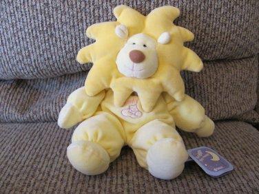 "NWT TriRuss Int'l Target Roarie Yellow Lion Moon Stars Comfy Rattles Lovey Plush 11"""