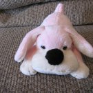"Fao Schwarz Penelope Pink Puppy Dog Brass Button Lovey Plush 8"""