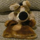 Vintage 1993 Warner Bros 24K Coco Brown Furry Hand Puppet Wile E Coyote Lovey Plush 9""