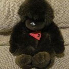 WT Vintage 1990 Dakin Gorilla Leather Nose Brown Lovey Monkey Plush 9""