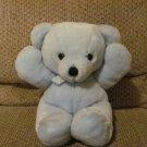 "Vintage 1987 Dakin Cuddles Light Blue Teddy Bear Lovey Plush 14"""
