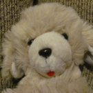Vintage Animal Fair Tan Shaggy Puppy Red Felt Tongue Dog Lovey Plush 14""