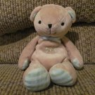 Carters Just One Year Tan I Love You Stitched Teddy Bear Lovey Plush