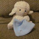 "Demdaco Nat & Jules Blue Blanket Musical Jesus Loves Me Lamb Lovey Plush 7"""