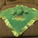 Sunshine Baby See Ya Later Green Satin Fleece Alligator Security Blanket 15x15""