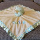 Carters Just One Year Blue Aqua Fringe Green Yellow Frog Cutie Rattles Security Blanket