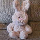 2015 Animal Adventure Tan White Tail Soft Bunny Rabbit Lovey Plush 11""