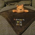 Baby Gear Mommy's Wild Child Orange Striped Tiger Brown Security Blanket Lovey 13x14""