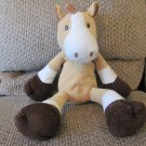 Circo Tan White Brown Black Button Eyes Sewn Nose Horse Lovey Plush 18""