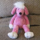 Pottery Barn Kids Hot Pink Poodle White Poufy Hair Lovey Plush 13""