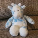 2005 Wishpets #92044 Blimp Blue Spotted Giraffe Rattle Plush Small Lovey Plush 9""