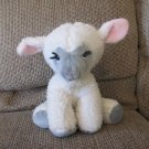 Vintage Animal Fair #9225A Pink Gray White Wooly Black Yarn Eyelashes Lamb Plush 14""