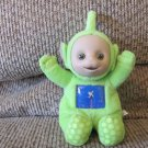 Vintage Play Along Ragdolls Teletubbies Green Sparkle Windmill Belly Dipsy Sitting Lovey Plush 8""