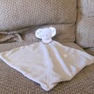 """NT Carters Precious Firsts Loved Gray White Green Stars Elephant Lovey Security Blanket 13x14"""""""