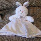 """Carters One Size White Wooly Fleece satin Skirted Bunny Rabbit Lovey Security Blanket 13"""""""