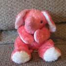 2002 Ty Baby Elephanthugs Pink White Purple Rattle Elephant Lovey Plush 12""