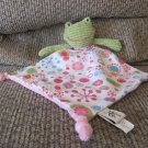 Maison Chic Green Waffle Frog Pink Round Fireworks Microfleece Knotted Lovey Security Blanket